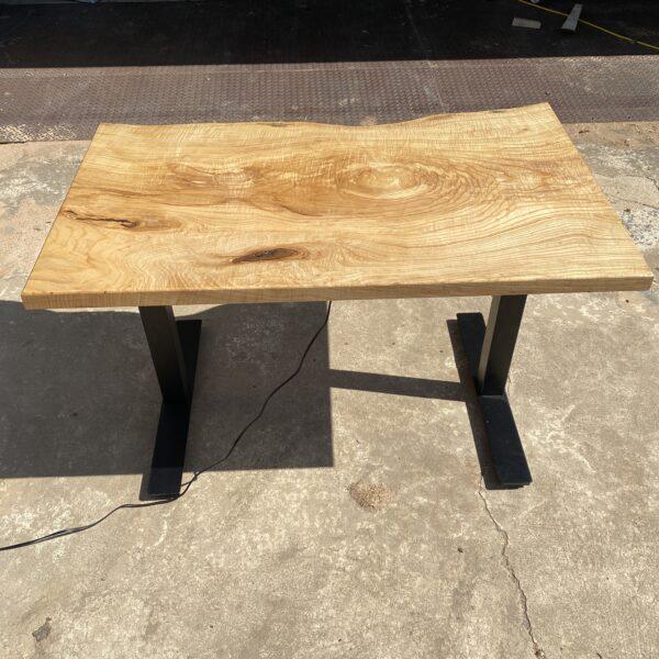 back of ash standing desk