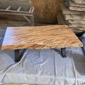 maple slab coffee table