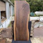 finished walnut slab for desk top