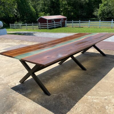 10 foot walnut river table