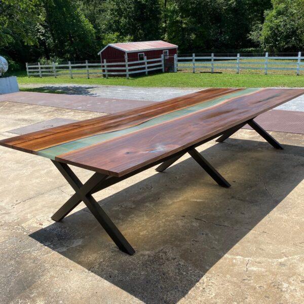 10 foot walnut river table