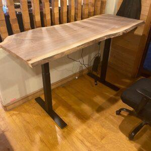 walnut standing desks