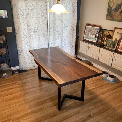6 foot walnut live edge table