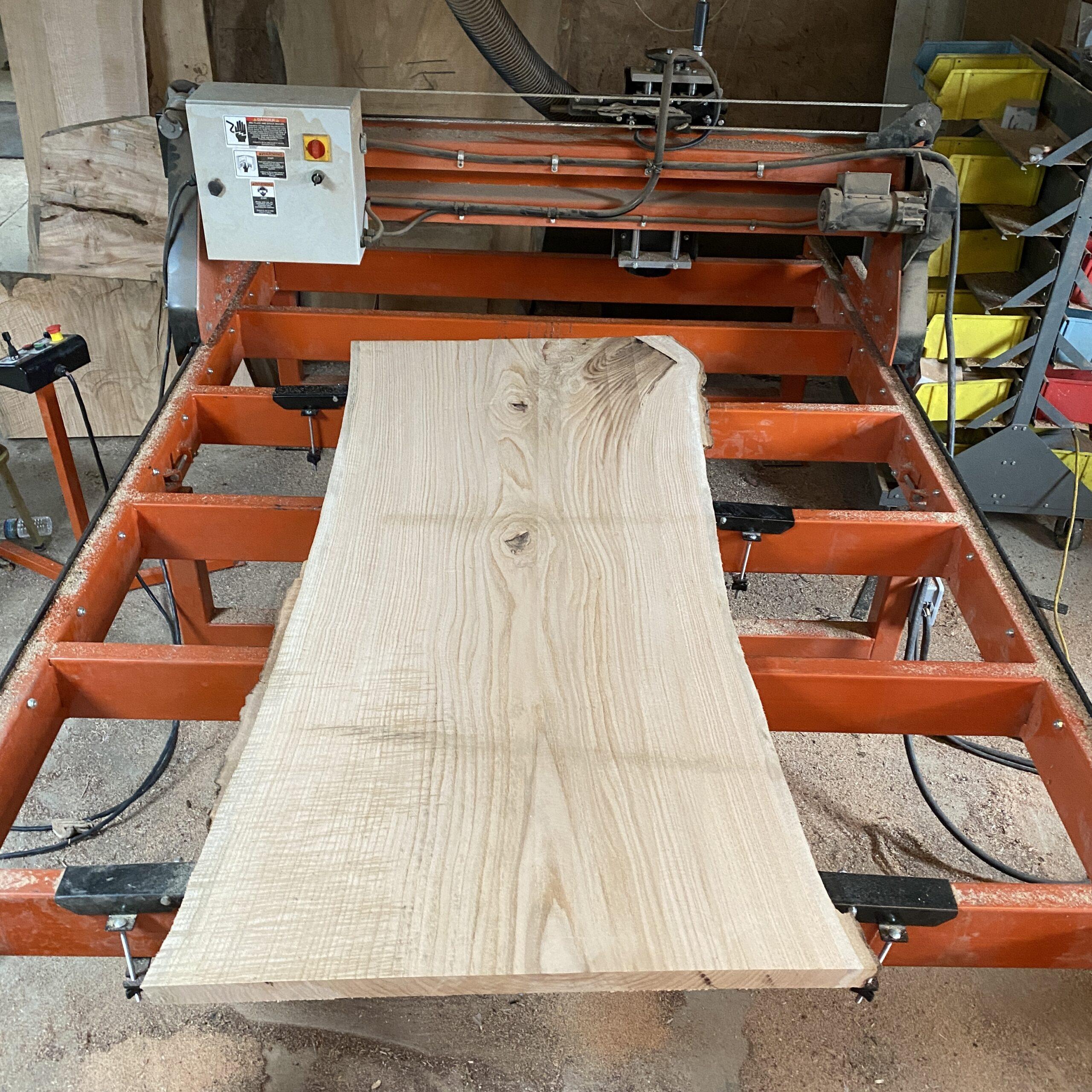 red oak live edge slab