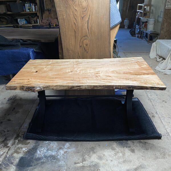6 foot maple live edge slab table