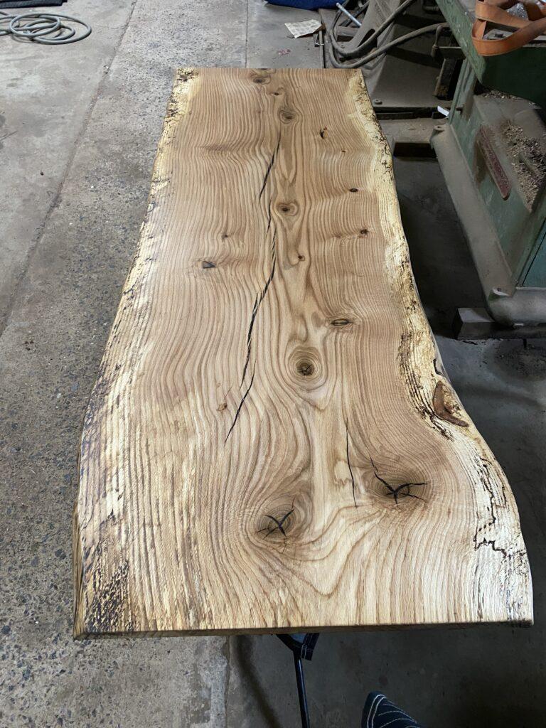 Spalted pin oak slab.