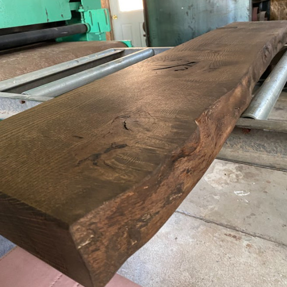 stained pin oak