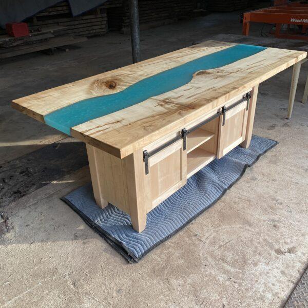 epoxy river kitchen island