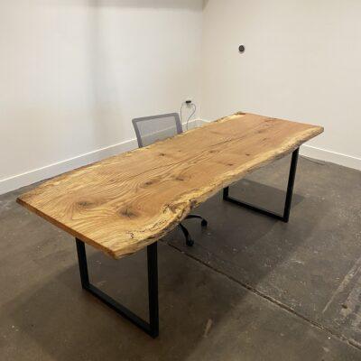 spalted pin oak desk