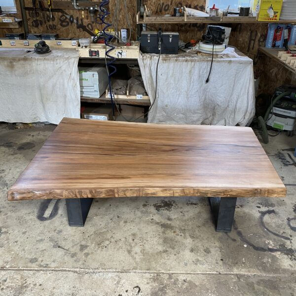 live edge sycamore coffee table