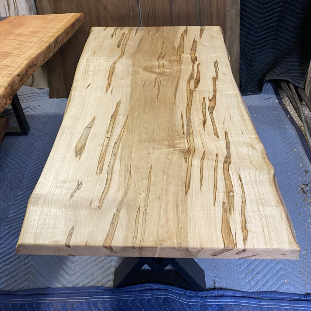 wormy maple figure coffee table