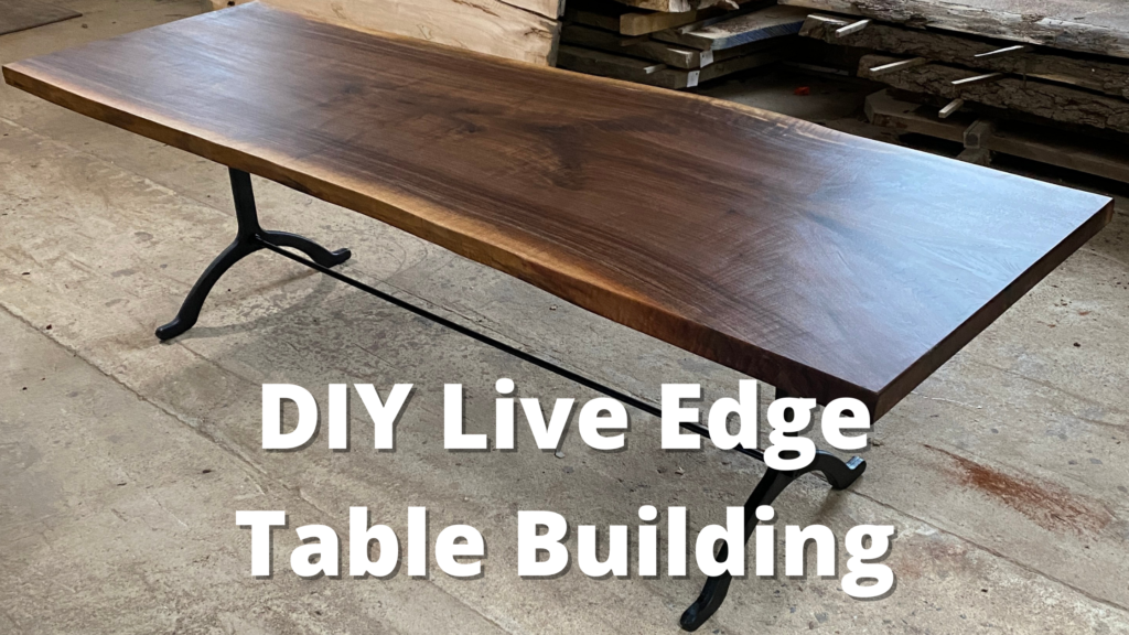 diy live edge table building