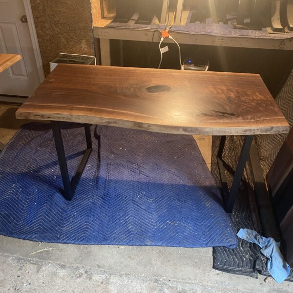 live edge walnut desk