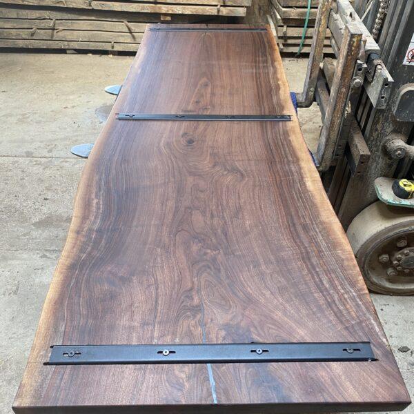 c channel on walnut table
