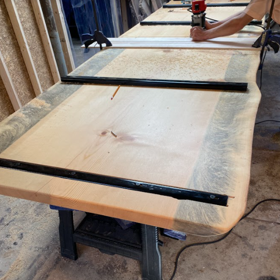 c channel on califonia pine table